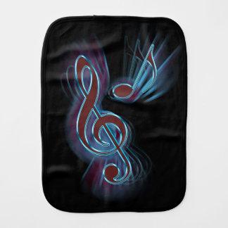 Abstract music. burp cloth