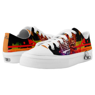 Abstract Music Life Printed Shoes