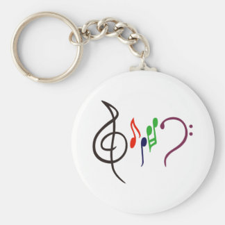 Abstract Music Logo Key Ring
