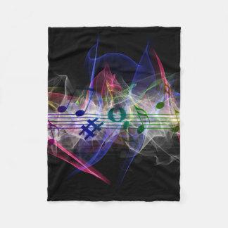 Abstract Music Note Fleece Blanket