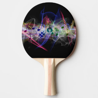 Abstract Music Note Ping Pong Paddle