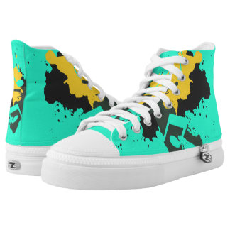 Abstract Musical Notes Shoes Printed Shoes
