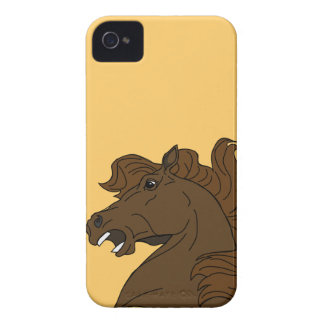 Abstract Mustang Head Blackberry Bold Case
