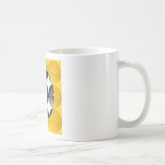 Abstract Mustard Yellow and Grey Coffee Mug