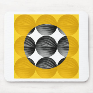 Abstract Mustard Yellow and Grey Mouse Pad