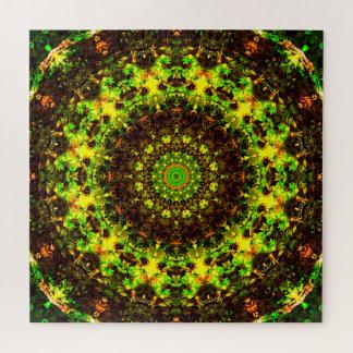 Abstract Nature | Green Mandala Jigsaw Puzzle