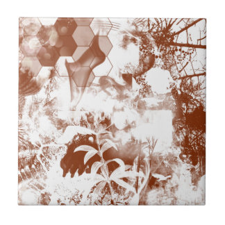 abstract nature small square tile