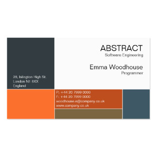 Abstract Navy Blue & Rusty Orange Business Card Templates