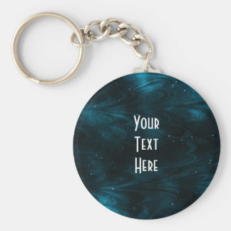 Abstract Nebula Texture - Blue Basic Round Button Key Ring