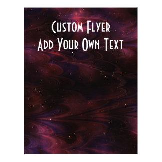 Abstract Nebula Texture - Pink Custom Flyer