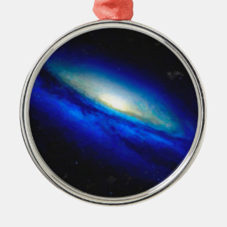 Abstract Nebulla with Galactic Cosmic Cloud 26 Metal Ornament