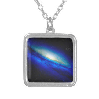 Abstract Nebulla with Galactic Cosmic Cloud 26 Silver Plated Necklace