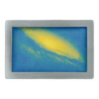 Abstract Nebulla with Galactic Cosmic Cloud 26a.jp Rectangular Belt Buckle