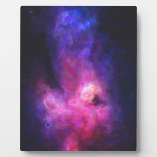 Abstract Nebulla with Galactic Cosmic Cloud 27 Plaque