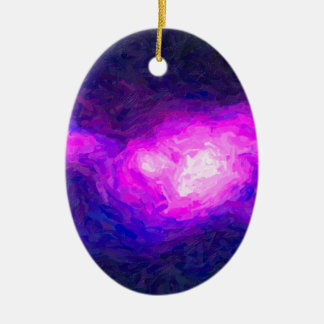 Abstract Nebulla with Galactic Cosmic Cloud 28a.jp Ceramic Ornament