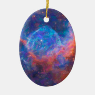 Abstract Nebulla with Galactic Cosmic Cloud 29 Ceramic Ornament