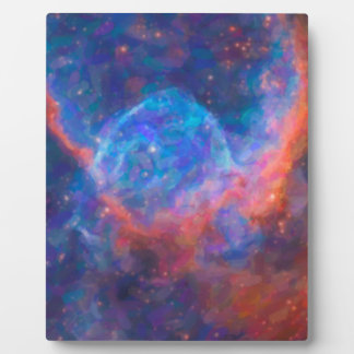 Abstract Nebulla with Galactic Cosmic Cloud 29 Plaque