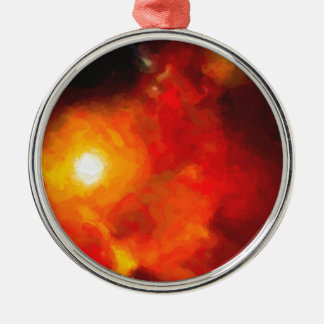 Abstract Nebulla with Galactic Cosmic Cloud 30 Metal Ornament