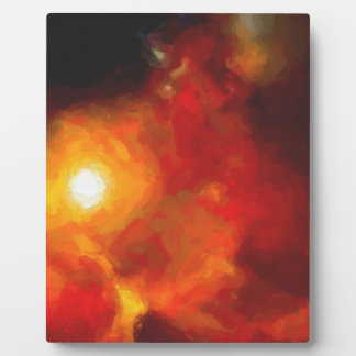 Abstract Nebulla with Galactic Cosmic Cloud 30 Plaque