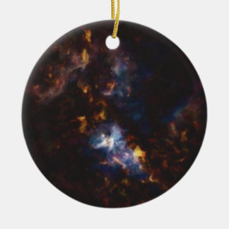 Abstract Nebulla with Galactic Cosmic Cloud 34 Ceramic Ornament