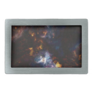 Abstract Nebulla with Galactic Cosmic Cloud 34 Rectangular Belt Buckle