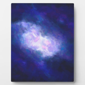 Abstract Nebulla with Galactic Cosmic Cloud 38 Plaque