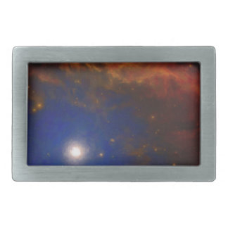 Abstract Nebulla with Galactic Cosmic Cloud 40 Rectangular Belt Buckles