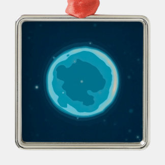 Abstract Nebulla with Galactic Cosmic Cloud 41 Cir Metal Ornament