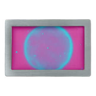 Abstract Nebulla with Galactic Cosmic Cloud 41 Cir Rectangular Belt Buckles