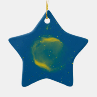 Abstract Nebulla with Galactic Cosmic Cloud 43 Sph Ceramic Star Decoration