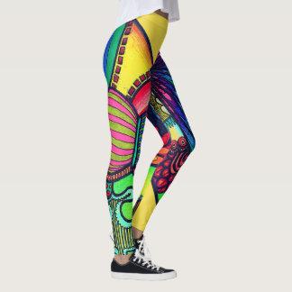Abstract Neon Leggings