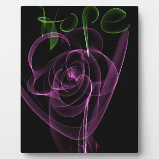 """Abstract Neon Pink Rose Green  """"Hope"""" Display Plaque"""