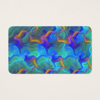 Abstract Neon Teal Blue Purple Fractal Pattern