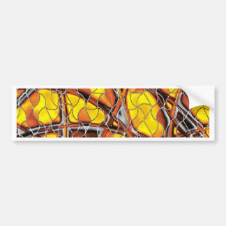 abstract net bumper sticker