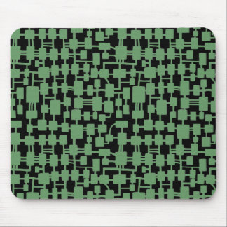 Abstract Network - Army Green on Black Mouse Pad