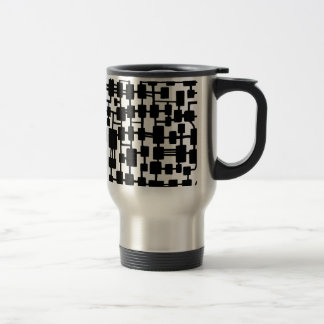Abstract Network - Black on White Mug