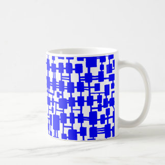 Abstract Network - Blue on Red Coffee Mug