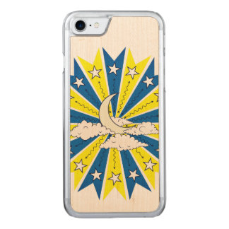 Abstract Night Skyline Illustration Carved iPhone 8/7 Case