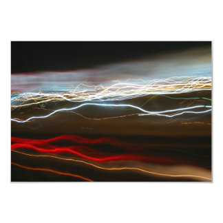 Abstract Night Time Light Trails Blur 9 Cm X 13 Cm Invitation Card