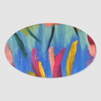 Abstract No.3.jpg Oval Sticker