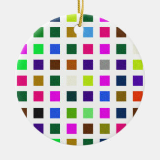 Abstract Noisy Color Palette Ceramic Ornament