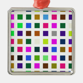 Abstract Noisy Color Palette Metal Ornament