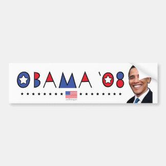 Abstract Obama Pic 2008 Car Bumper Sticker