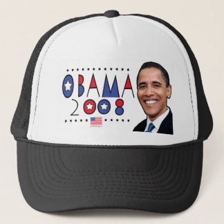 Abstract Obama Pic 2008 Trucker Hat