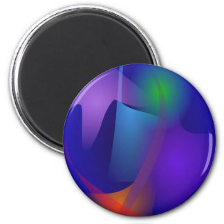 Abstract Objects in the Blue Room Refrigerator Magnet