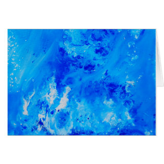 Abstract Ocean Art Card