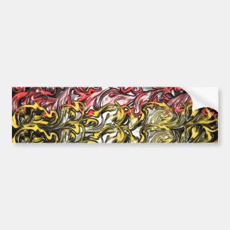 Abstract Ocean Bumper Sticker