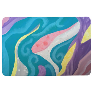 Abstract Ocean Floor Mat
