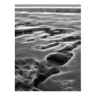 Abstract Ocean Rocks greeting card