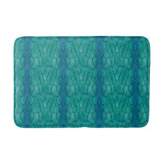 Abstract Ocean Style Bathroom Mat